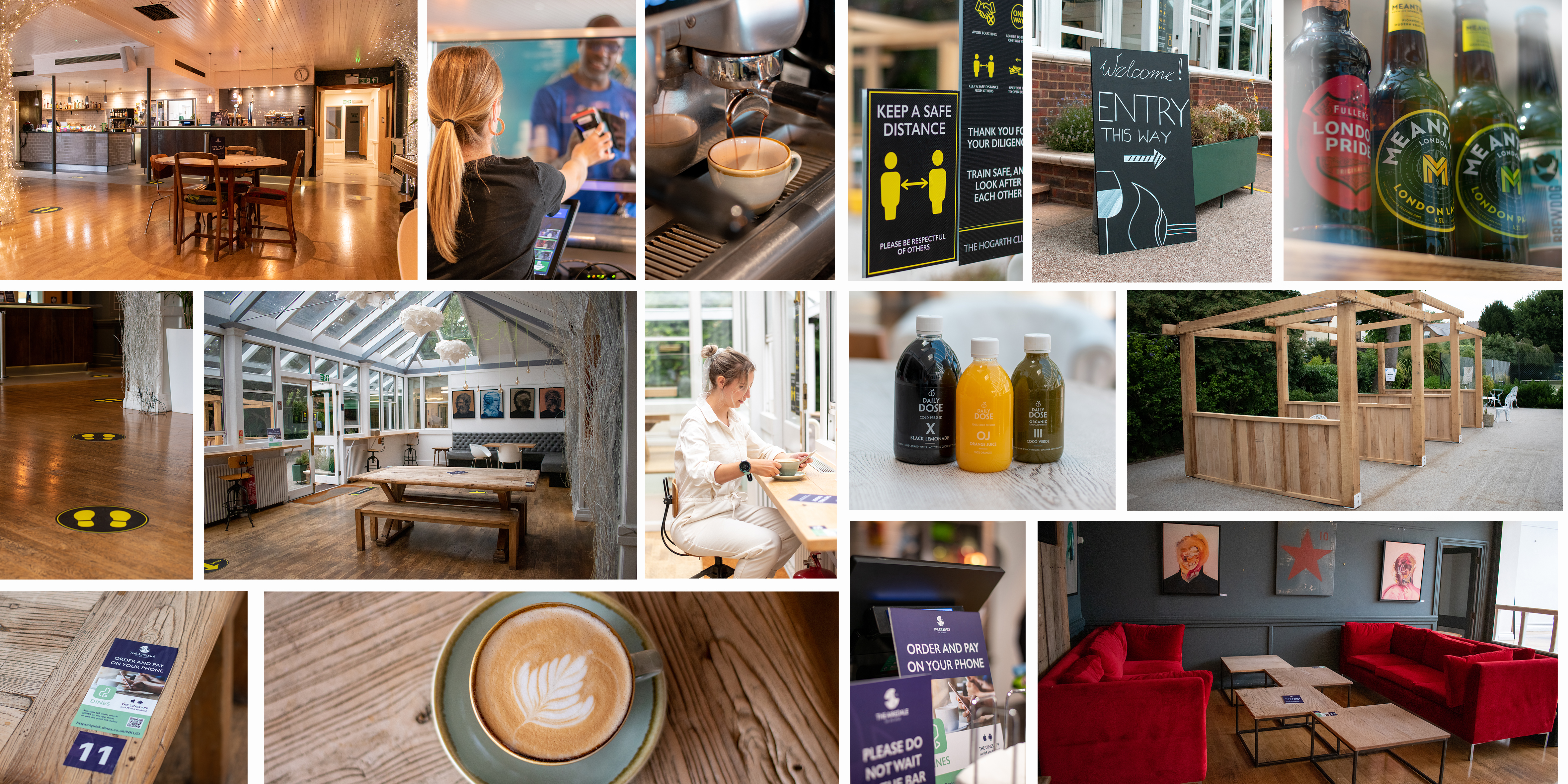 the airedale bar chiswick based at the Hogarth social distanced space fresh smoothies beer wine