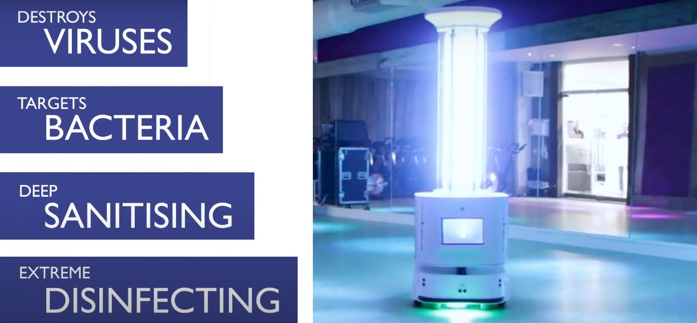 new uvc light robot extreme disinfecting at the Hogarth club