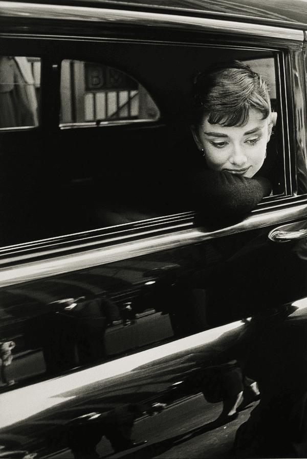 "Audrey Hepburn During the Filming of ""Sabrina"""