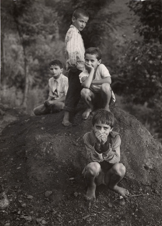 Albanian Boys on the Road Earth, Rigaj, Albania