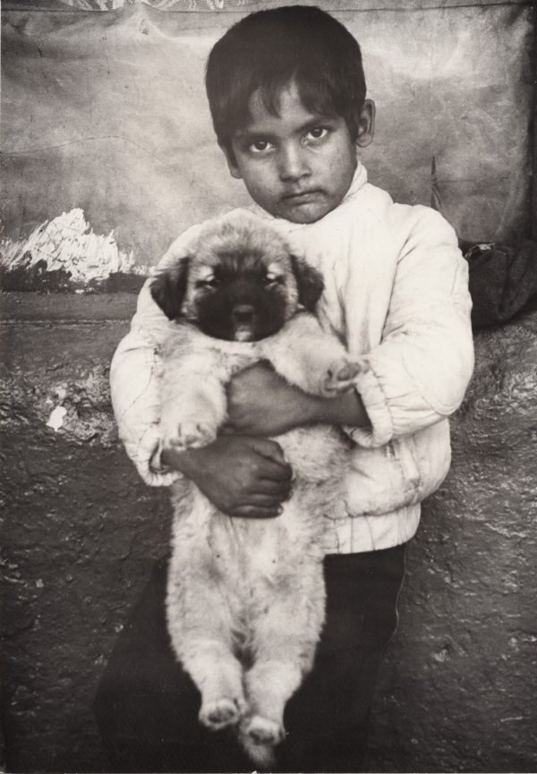 A Boy with his Pet Dog, Town Maglizh