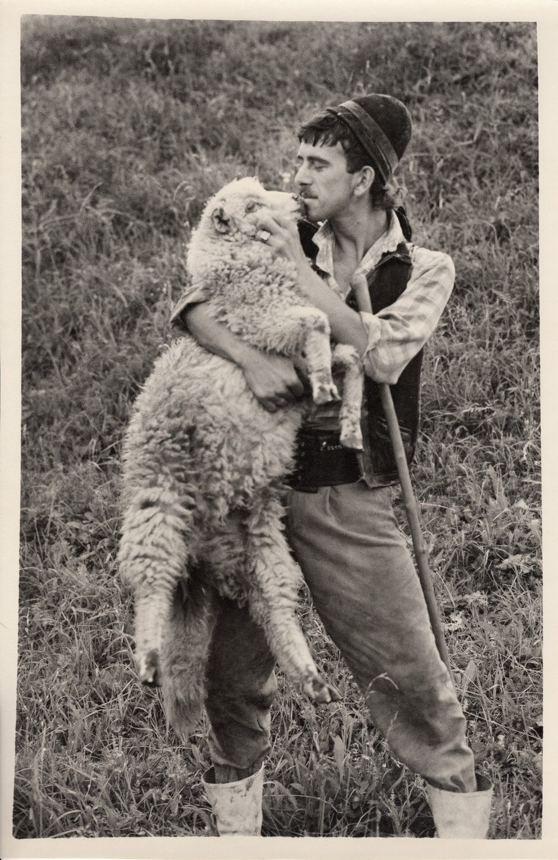 A Shepherd with a Lamb, Rumania