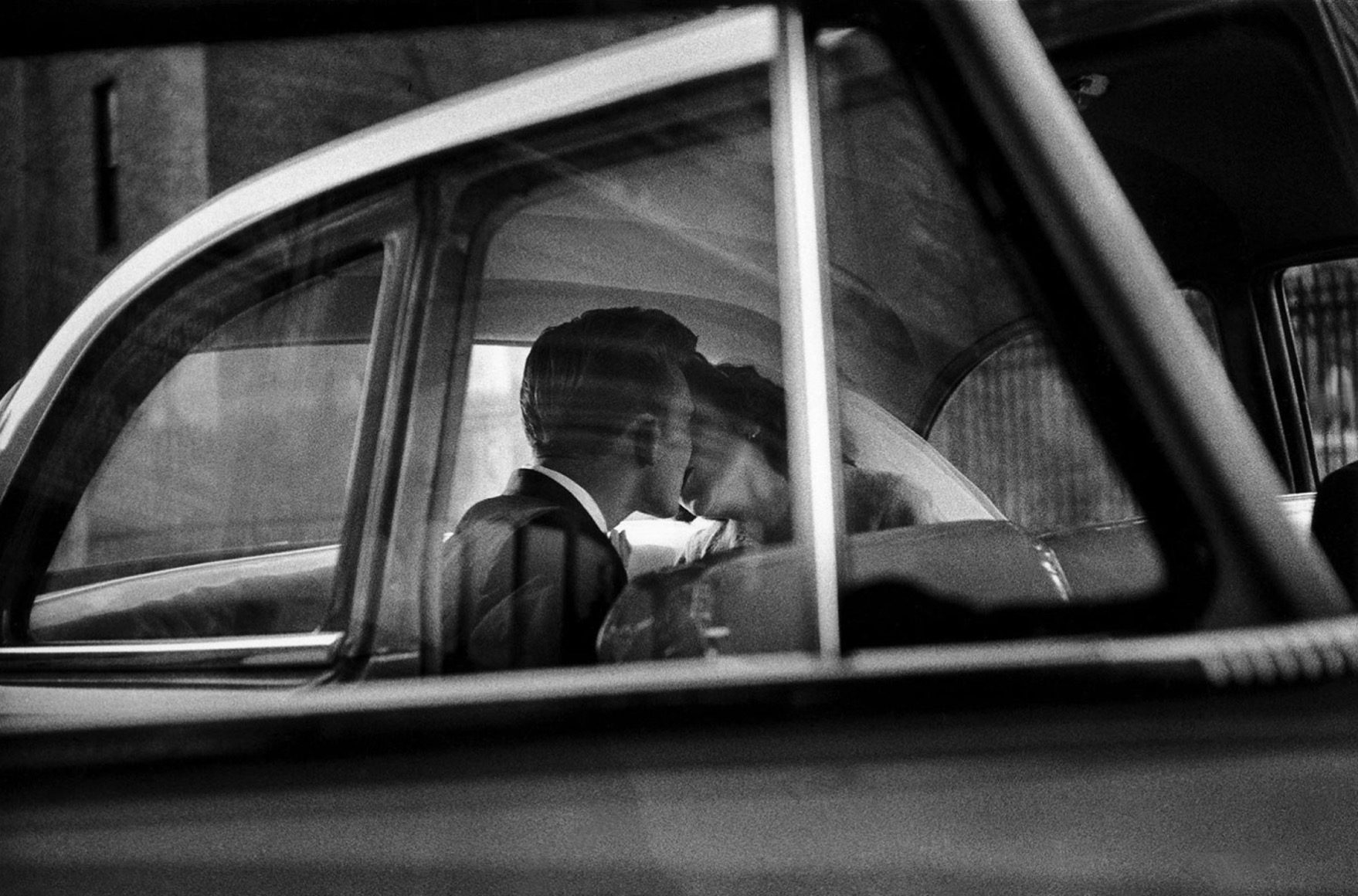New York City, 1955 (Couple Kissing in Car)