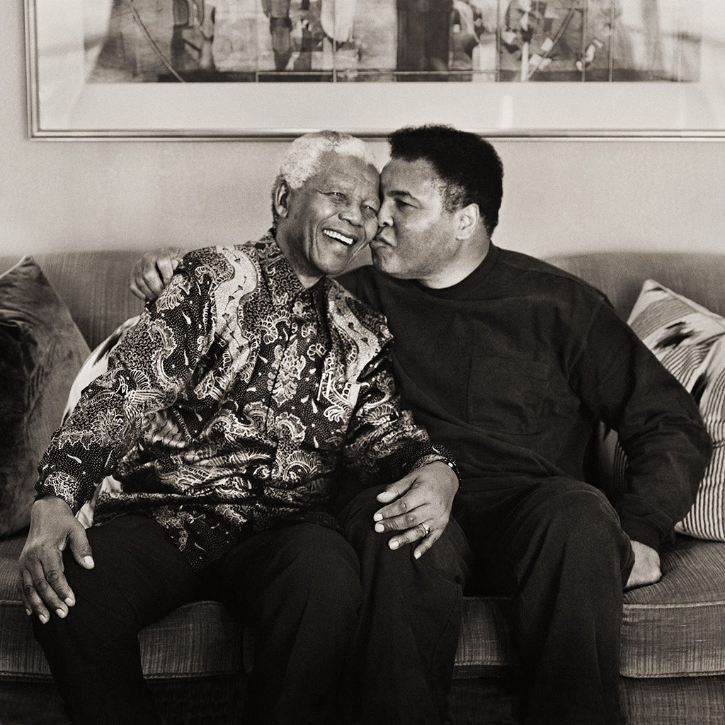 Mandela and Ali Kiss