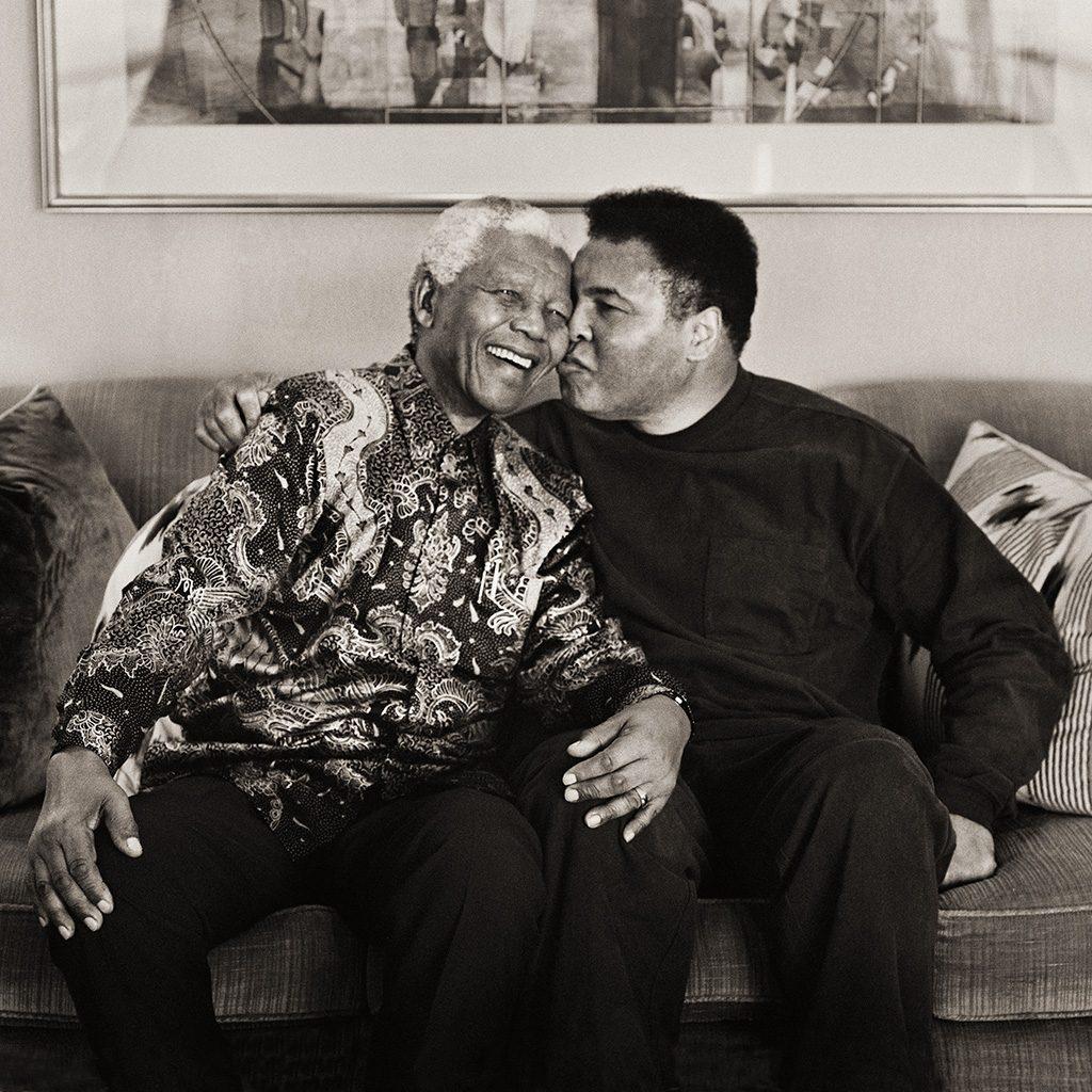 Mandela and Ali Kiss