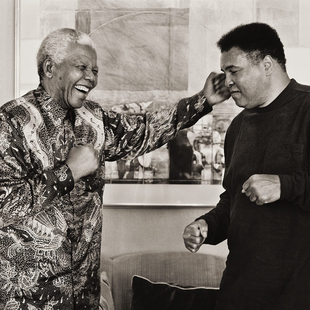 Mandela and Ali Shadow Boxing