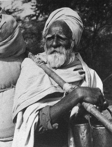 Holy Pilgrim, On Ohe Road, India