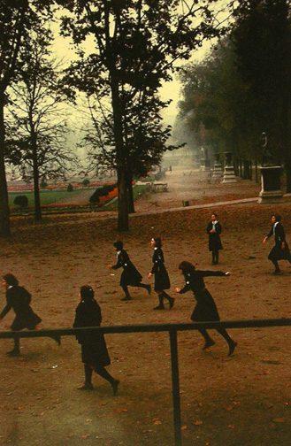 French School Girls in Park