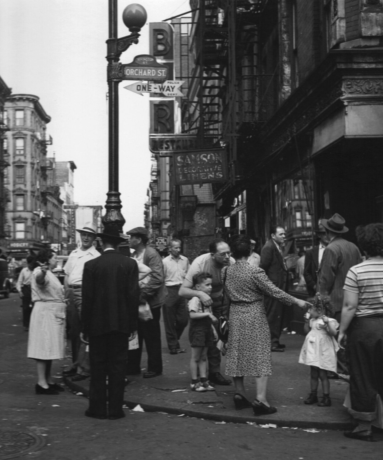 Directions on Orchard St., Lower East Side, N.Y.C.