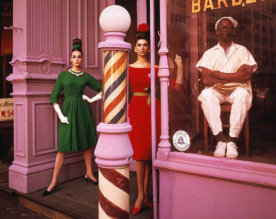 Antonia + Simone + Barber Shop, New York (Vogue)