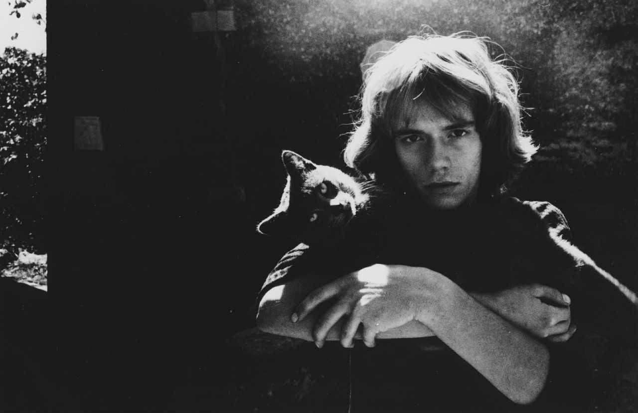 Roland With His Cat