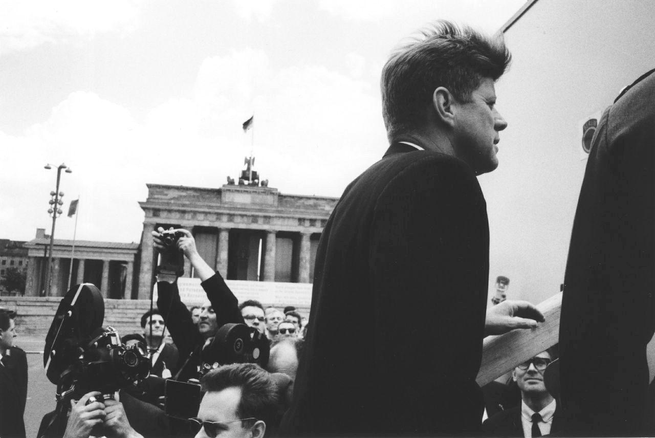 John F. Kennedy at the Brandenburg Gate, Berlin