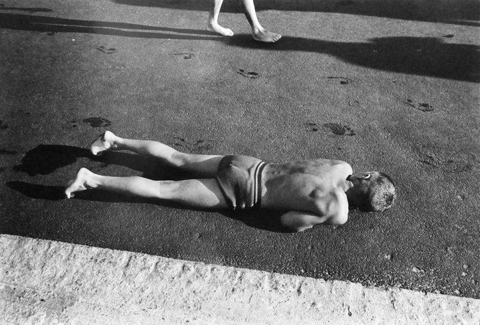 Boy Warming Himself at Poolside, Berlin