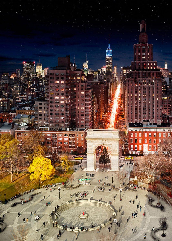 Washington Square Park, NYC, Day to Night