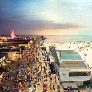 Santa Monica Pier, California, Day to Night