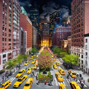 Park Avenue, NYC, Day to Night