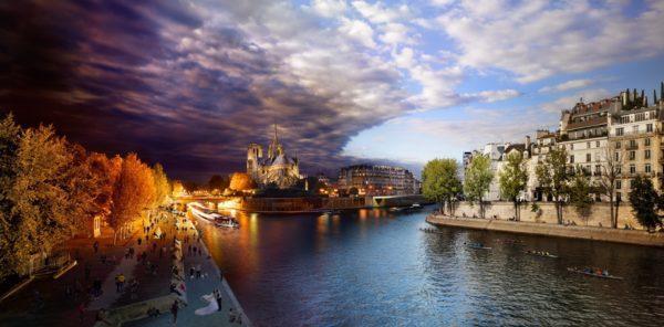 Pont de la Tournelle, Paris, Day to Night