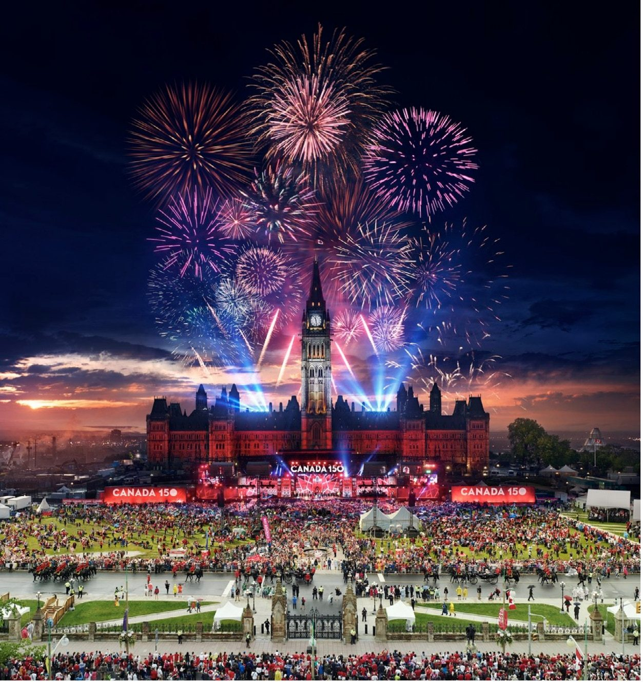 Ottawa, Canada 150, Day to Night