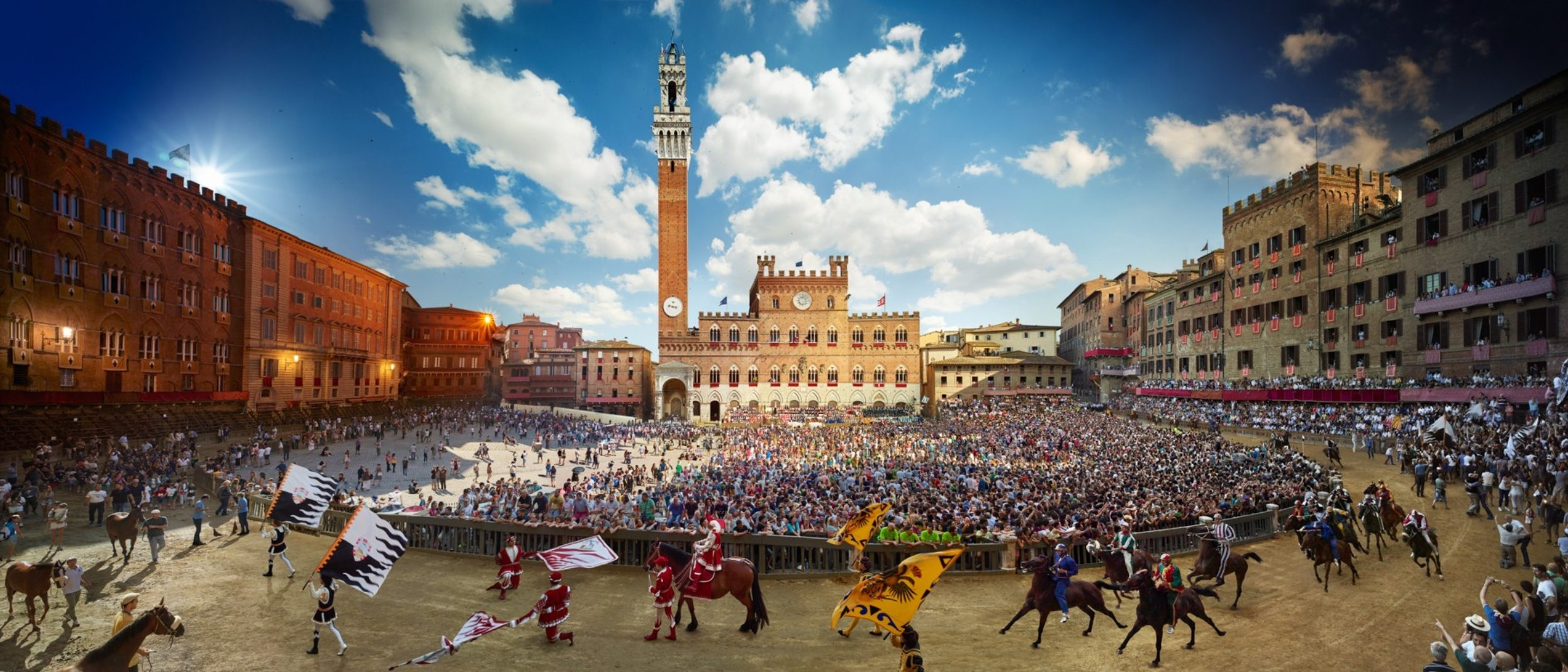 Palio, Siena, Italy, Day to Night