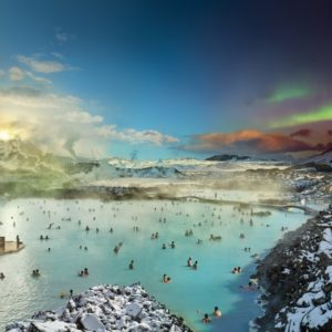 Blue Lagoon, Iceland, Day to Night