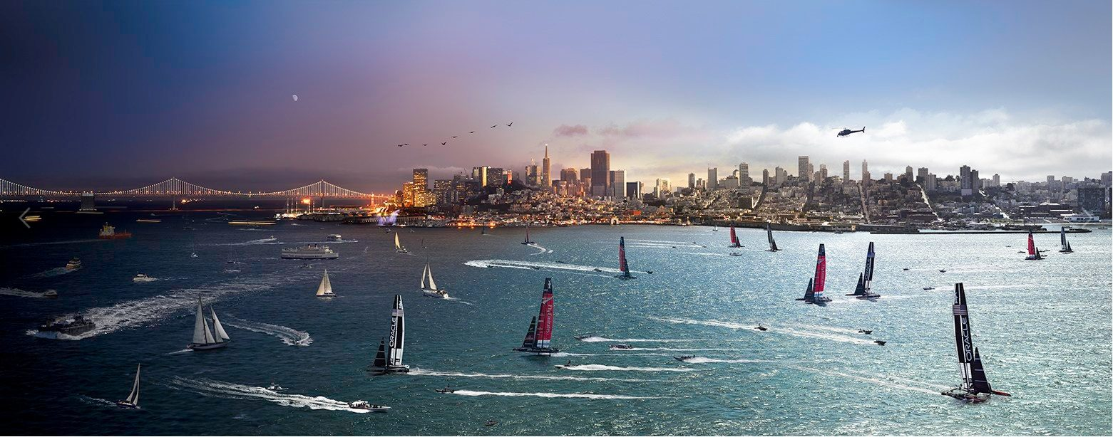 America's Cup, San Francisco, Day to Night