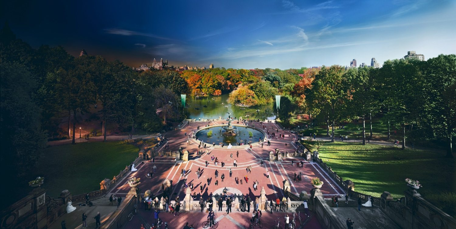 Bethesda Fountain, Central Park, Day to Night