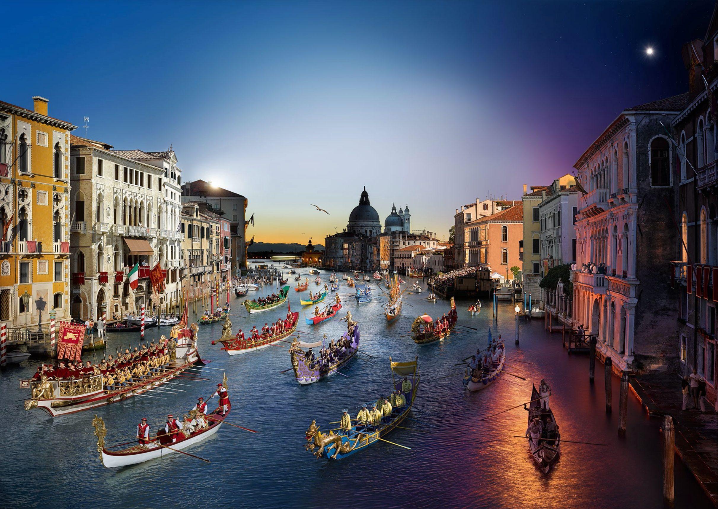 Regata Storica, Venice, Day to Night