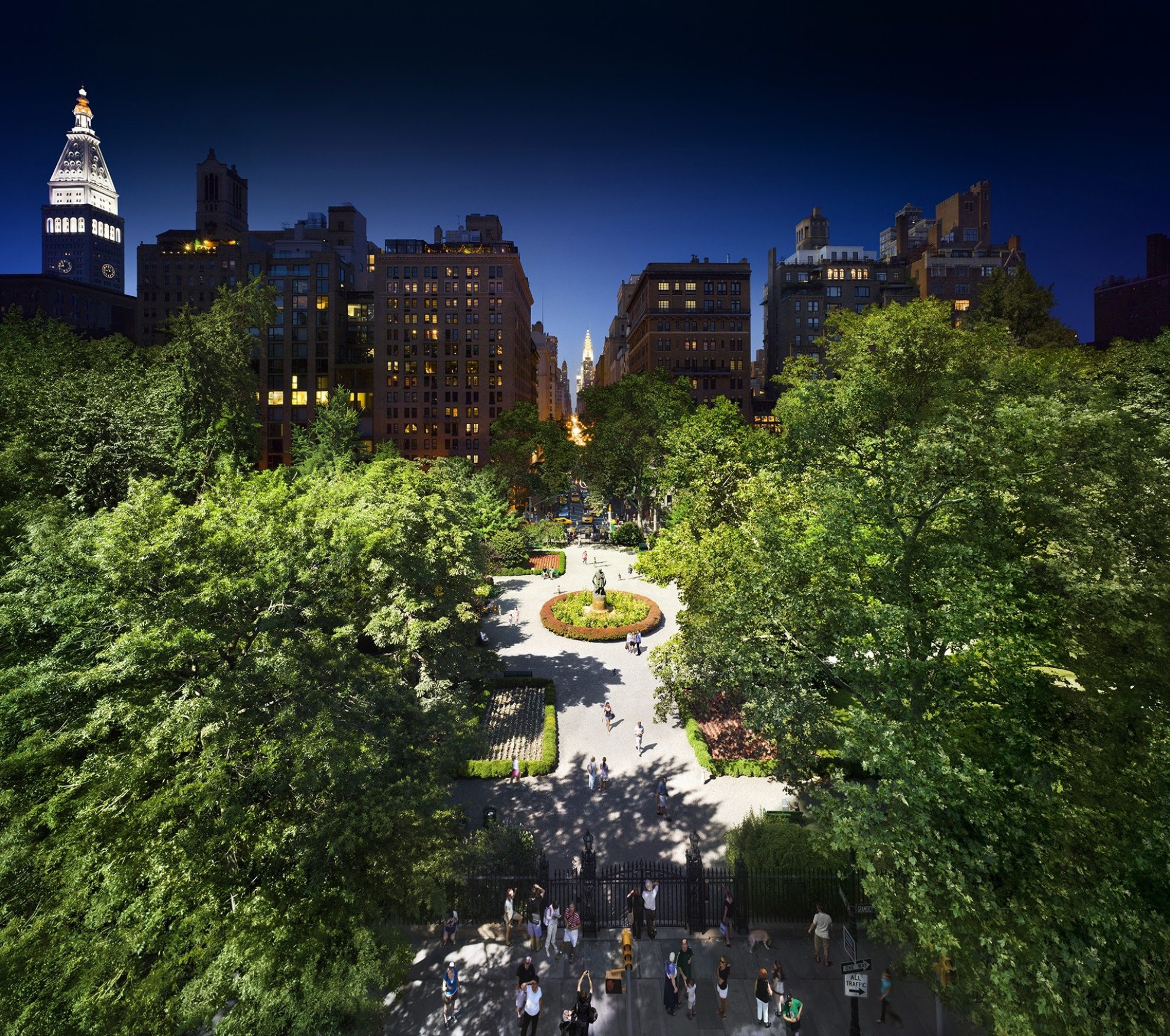 Gramercy Park, NYC, Day to Night