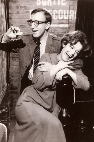 "Romy Schneider with Woody Allen in ""What's New Pussy Cat"""