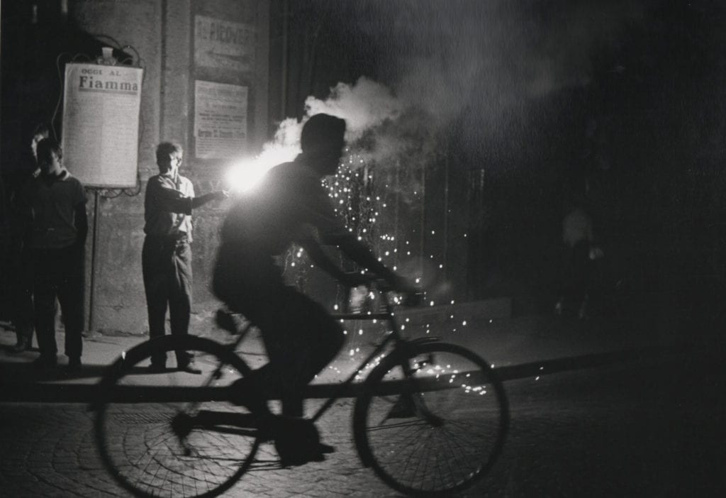 Velo nuit Naples (Bicycle at night in Naples)