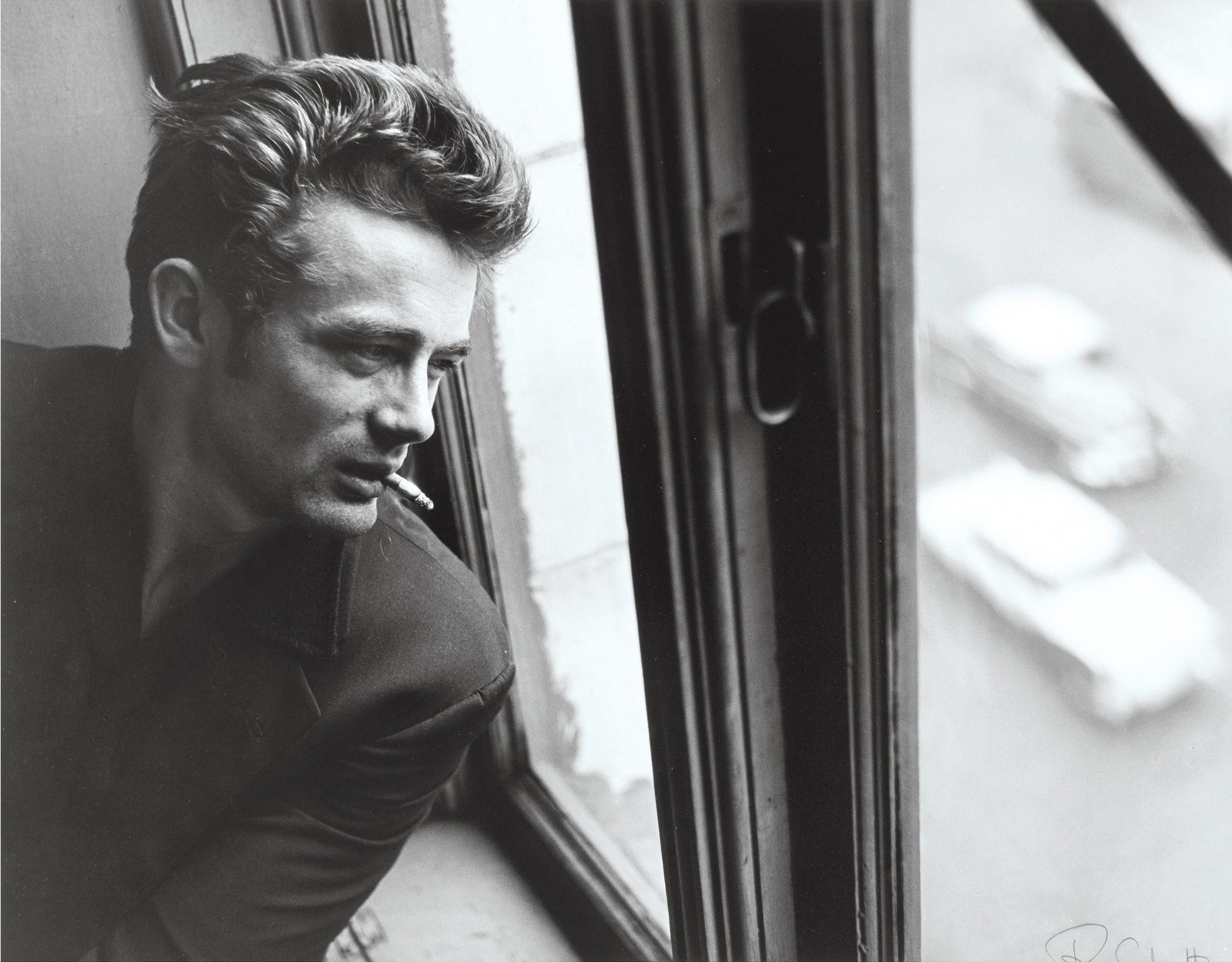 James Dean in Window with Cigarette, ABC Studios, New York City