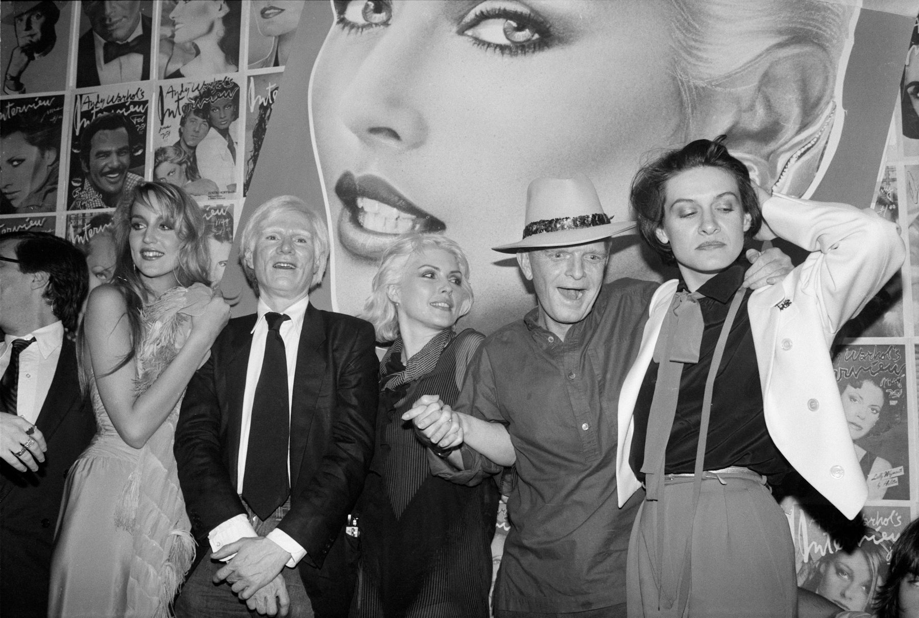 Jerry Hall, Andy Warhol, Deborah Harry, Truman Capote and Paloma Picasso, Studio 54