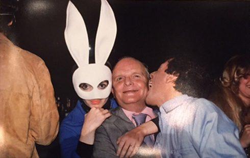 Liza, Truman and Steve Rubell at Studio 54