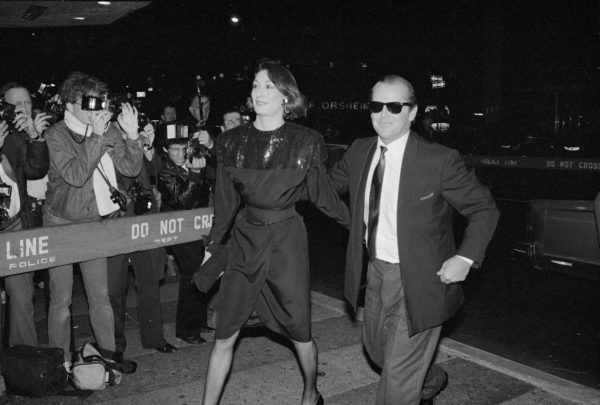 Angelica Huston and Jack Nicholson at the Terms of Endearment Premiere, New York City