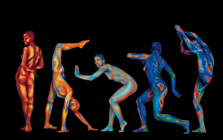 Sebastián Leyton (Chile) # 34-35, Cuerpos Pintados - Painted Bodies