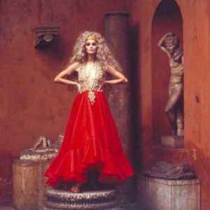 Model in Red Dress, Rome