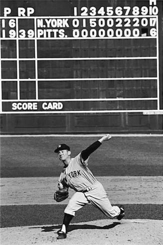 New York Yankees Whitey Ford in action, pitching vs Pittsburgh Pirates, 1960 World Series