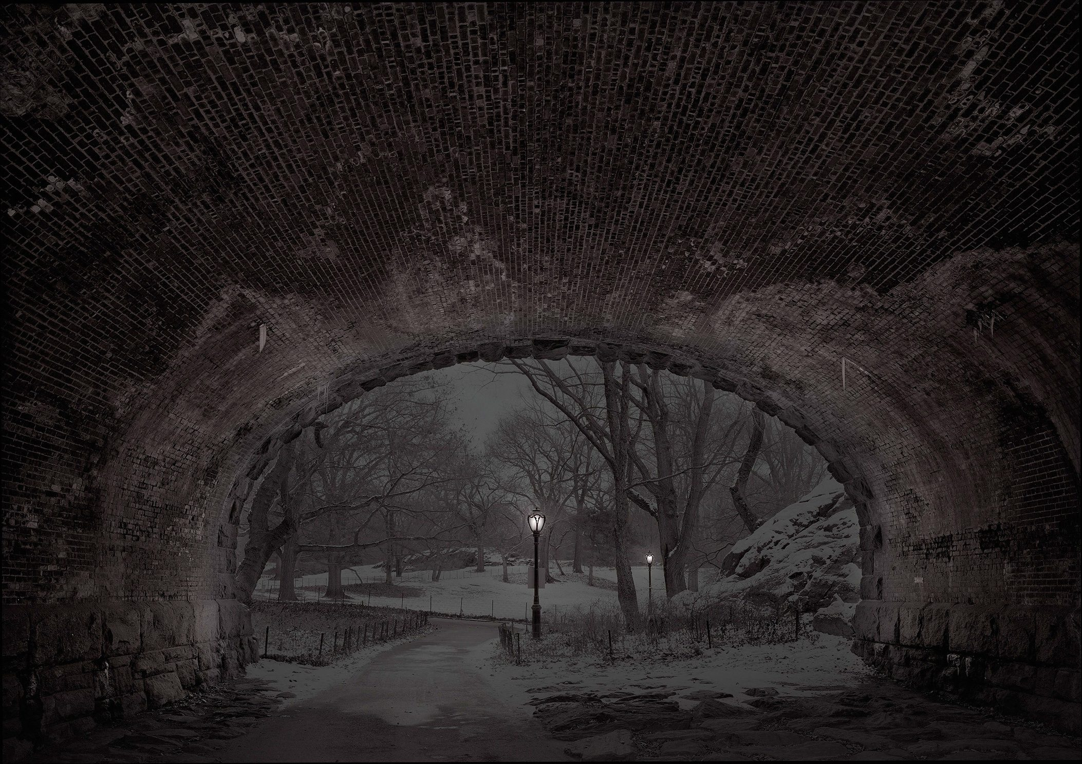 "Deep In A Dream - Central Park - Central Park ""Eaglevale Arch Looking North"""