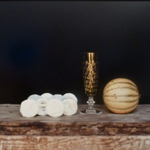 Still life with a crystal glass