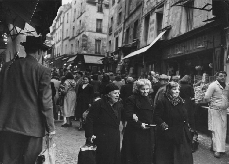 The Rue Mouffetard - Post WWII, just after Liberation