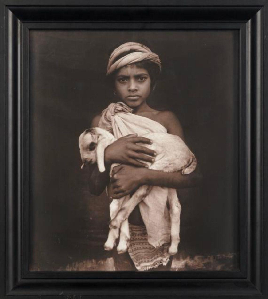 Ramesh'/Ratwa Adivasi with goat