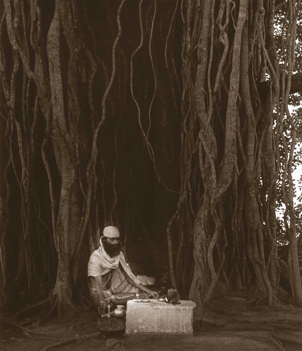 Govinda under Bodhi tree