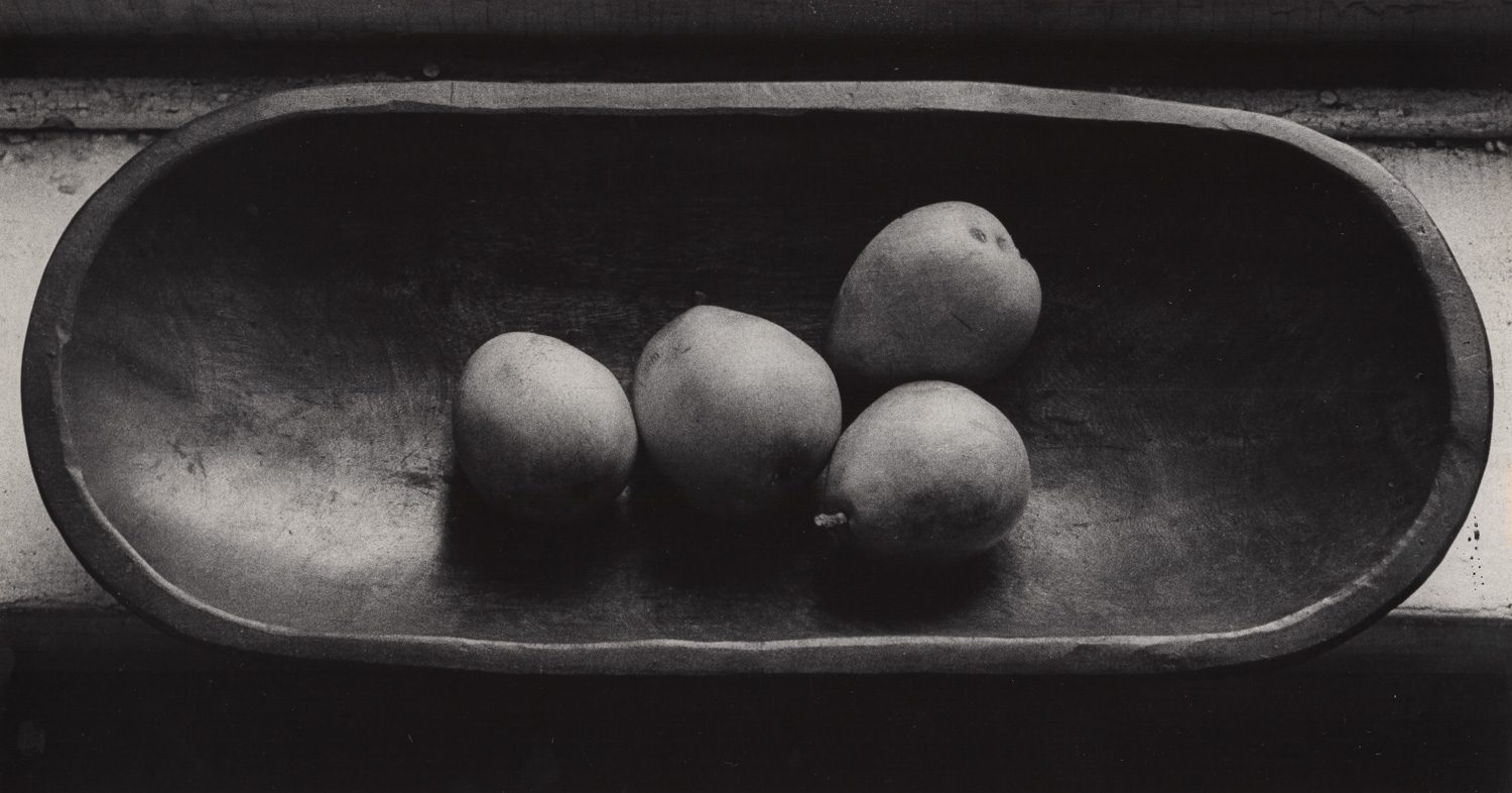 Pears in Wooden Bowl
