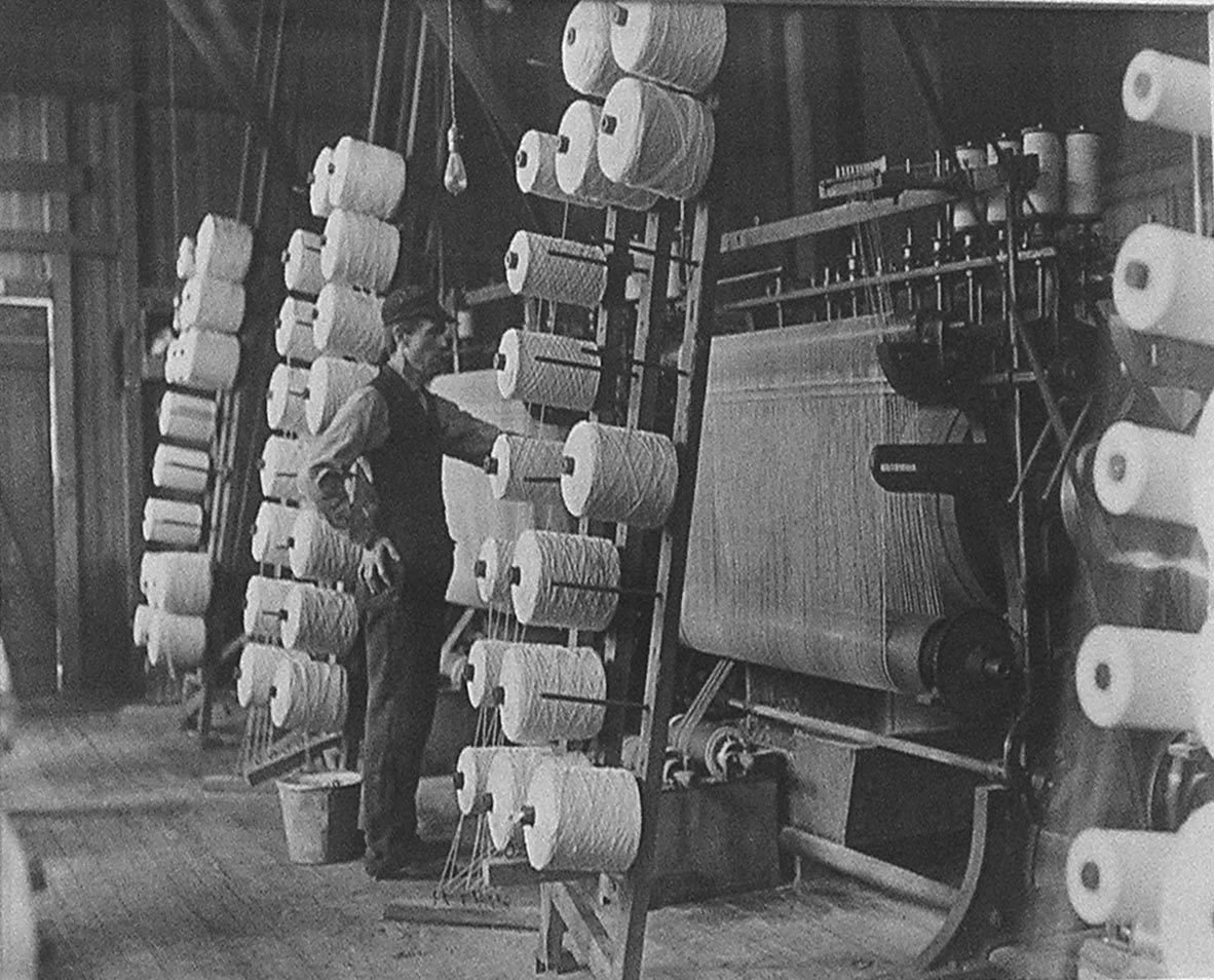 Operative (man) in Old Time Cotton Mill