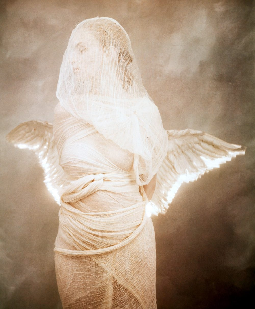Angel and Lit Wings