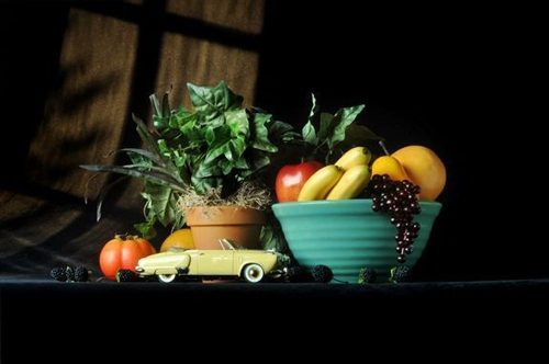 Fruit Bowl with 1950 Studebaker Champion