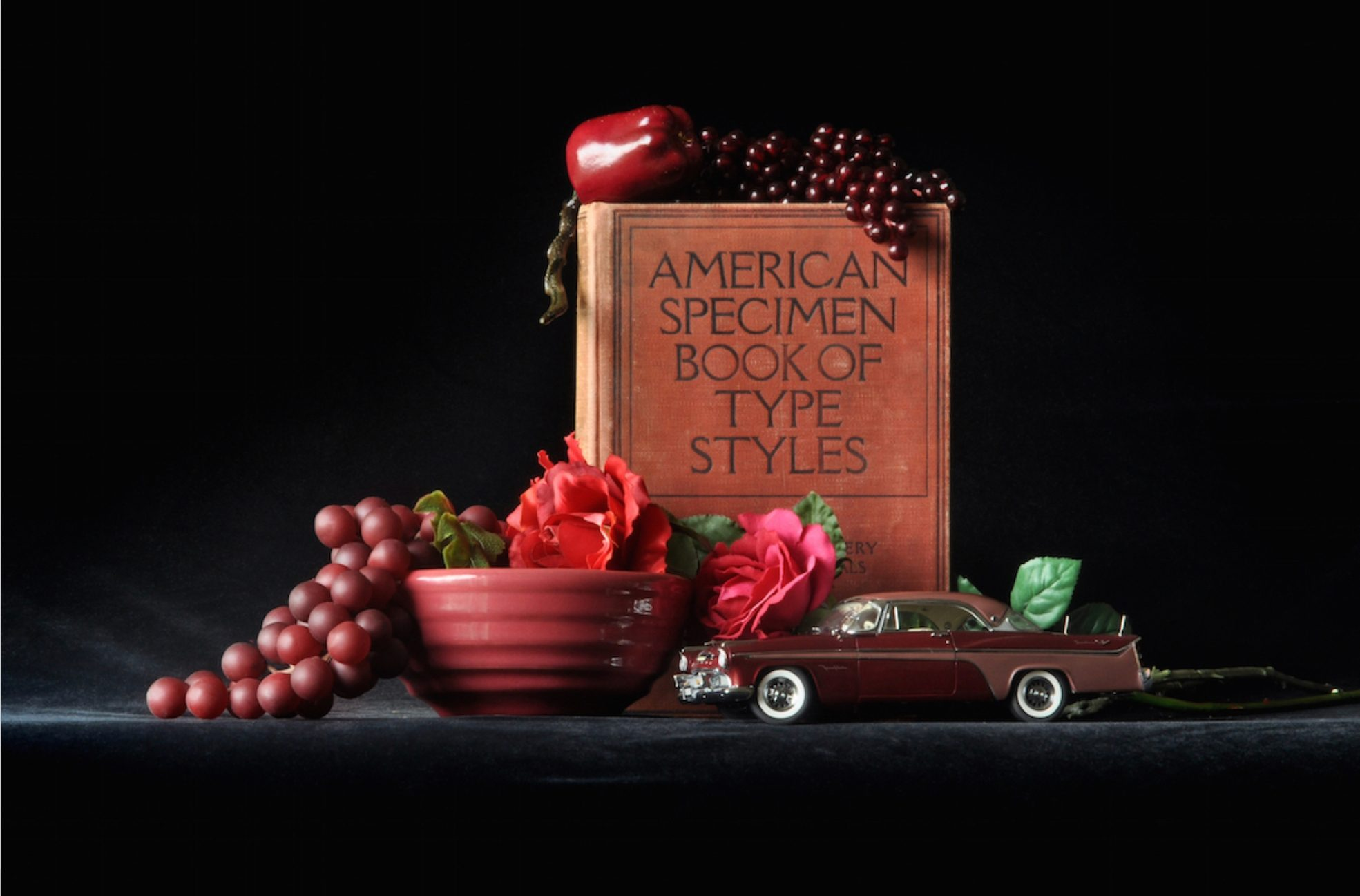 1911 American Specimen Book of Type Styles with 1956 DeSoto