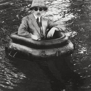 Zissou in His Tire Boat, Chateau de Rouzat