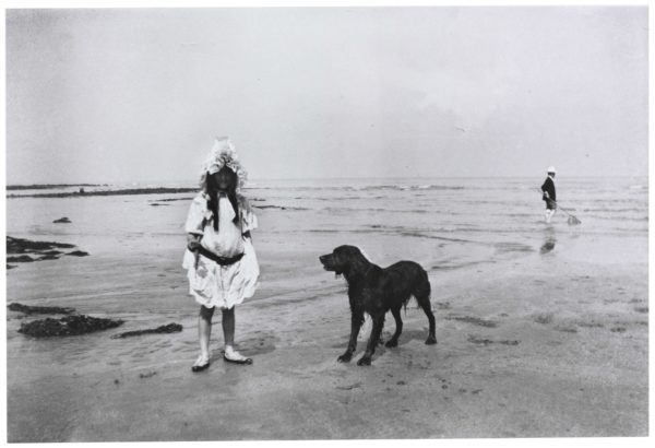 Simone Roussel on the Beach at Villerville
