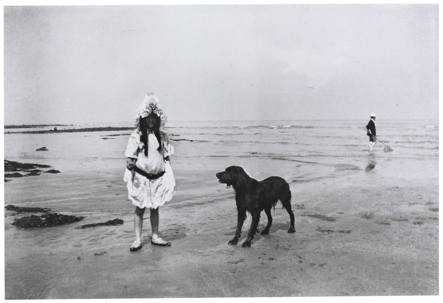Simone Roussel on the Beach at Villerville